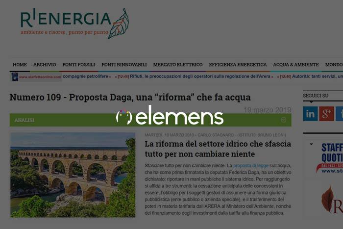 Italia: più rinnovabili nel settore elettrico post-Covid - Articolo di A.Marchisio, S.A.Casa e E.Zanardelli