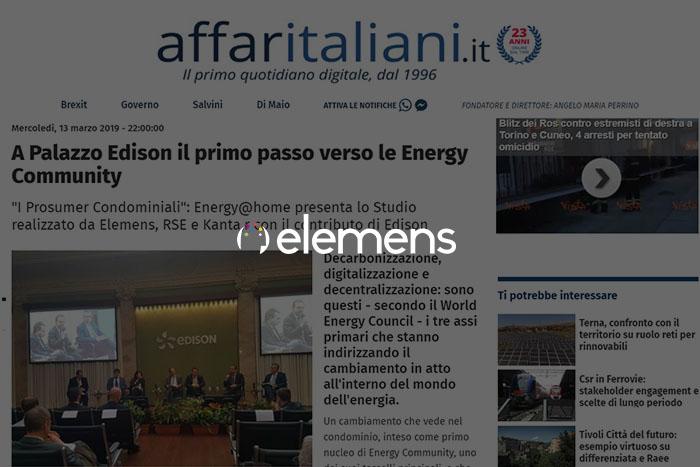 A Palazzo Edison il primo passo verso le Energy Community