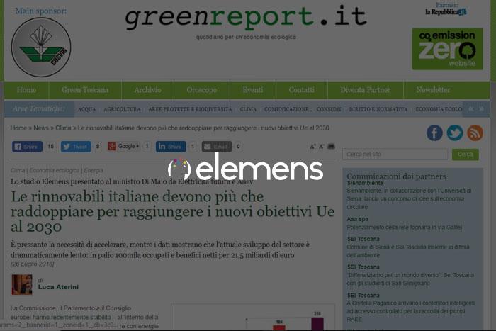 Lo studio Elemens presentato al ministro Di Maio da Elettricità futura e Anev: le rinnovabili italiane devono più che raddoppiare per raggiungere i nuovi obiettivi Ue al 2030