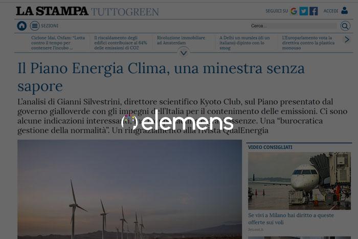 Il Piano Energia Clima, una minestra senza sapore