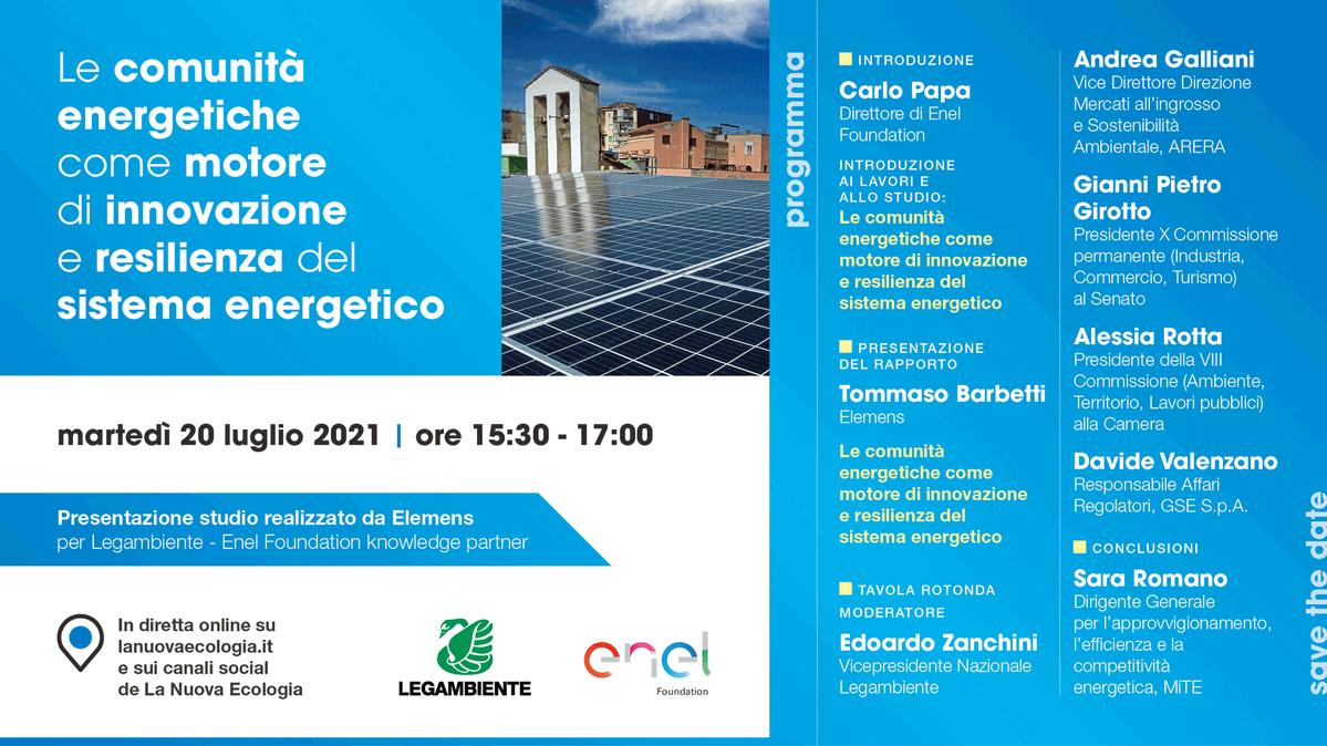 Elemens sulle Comunità Energetiche con Legambiente e Enel Foundation